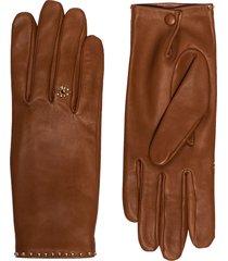 agnelle jeslyn stud-embellished gloves - brown