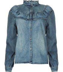 jeans blouse silke