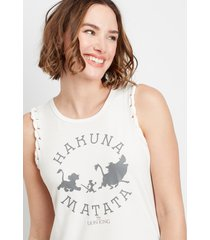 maurices womens the lion king braided sleeve graphic tank top white
