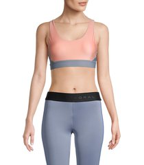koral women's crisscross sports bra - rose quartz - size m