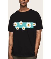 hombres verano casual soft plain graphic letter print t-shirt