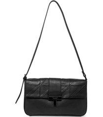 t tahari frida leather flap shoulder bag