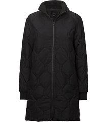 slfolta down jacket b doorgestikte jas zwart selected femme
