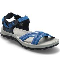 ke terradora ii strap open toe w navy-mykonos blue shoes summer shoes flat sandals blå keen