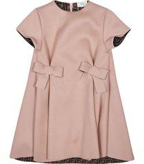 fendi bow front detail dress