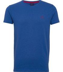 contrast logo ss t-shirt t-shirts short-sleeved blå gant