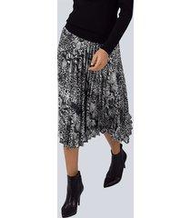 kjol alba moda silvergrå::svart