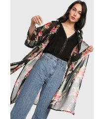 kimono negro-multicolor ambiance