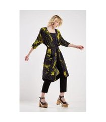 kimono sacada est floral croqui feminino