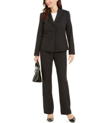 le suit pinstriped pantsuit