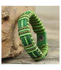 men's wristband bracelet, 'kente happiness' (ghana)