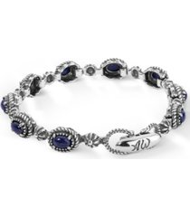 american west blue lapis tennis bracelet in sterling silver