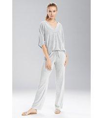 n terry lounge pants pajamas, women's, grey, size s, n natori