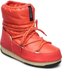 mb low nylon wp 2 shoes boots ankle boots ankle boot - flat orange moon boot