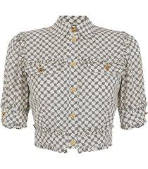 crop blouse met print
