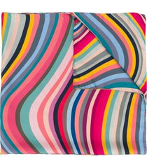 paul smith double-sided swirl scarf - pink