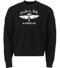 military wings crewneck sweatshirt, black