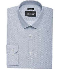 awearness kenneth cole teal print extreme slim fit dress shirt