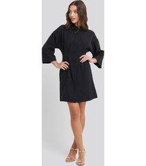 na-kd a-line shirt dress - black