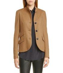 women's rag & bone slade wool blazer, size 16 - brown
