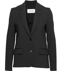 punto milano stretch blazer blazers casual blazers zwart calvin klein