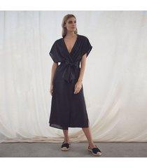 kimono negro para mujer aurora