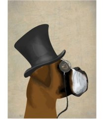 "fab funky boxer, formal hound and hat canvas art - 15.5"" x 21"""