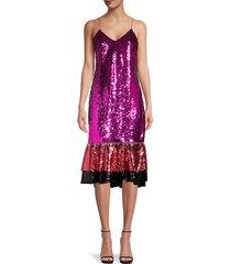 sachin & babi women's maslak sequin dress - fuchsia - size 2