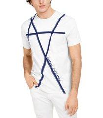 armani exchange men's criss-cross logo graphic t-shirt