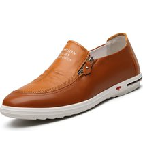 uomo casual scarpe slip-on morbide con zip laterale