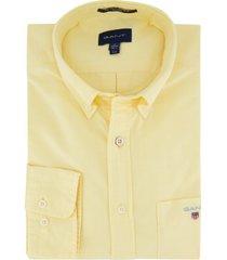 geel overhemd gant regular fit