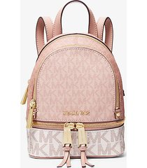 mk zaino rhea mini color block con logo - ballet multi - michael kors