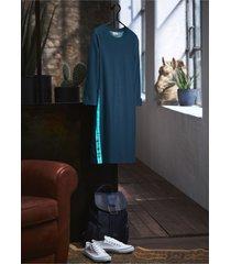 abito in felpa effetto jeans con maniche a 3/4 (blu) - john baner jeanswear