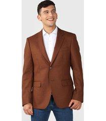blazer van heusen marrón - calce regular