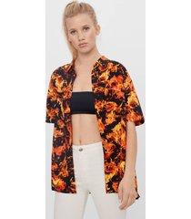 blouse met vlammenprint