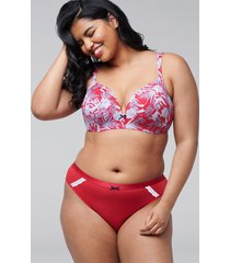 lane bryant women's extra soft thong panty 22/24 lipstick red