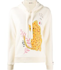 ports 1961 embroidered hoodie - neutrals