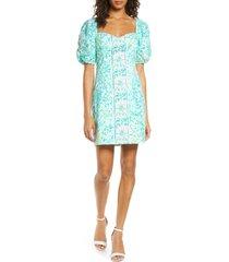 women's lilly pulitzer daniela puff sleeve dress