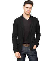blazer tony menswear de moletom slim fit azul preto