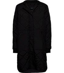 slfnatalia quilted coat b noos doorgestikte jas zwart selected femme