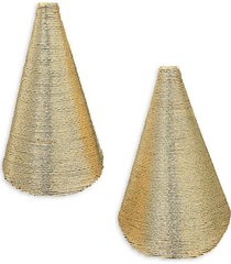 aida yellow goldplated conical clip-on earrings
