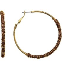 t.r.u. by 1928 14 k gold dipped clutch wrapped hoop earring