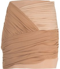 david koma draped wrap-design mini skirt - neutrals