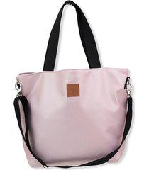 duża torba shopperka mili duo - metalic pink