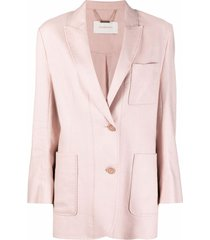 zimmermann single-breasted stitched blazer - pink