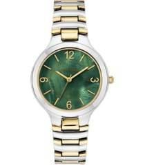 anne klein women's solar two-tone bracelet watch 32.5mm