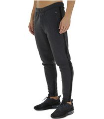 calça de moletom oxer type - masculina - cinza escuro/preto