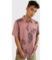 camisa oakley rosa - calce regular