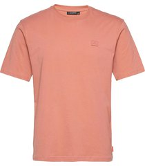 dale logo patch t-shirt t-shirts short-sleeved rosa j. lindeberg