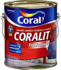 esmalte sintético acetinado coralit branco 3,6l - coral - coral